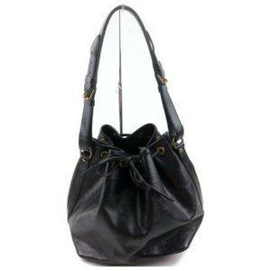 Authentic Louis Vuitton shoulder bag epi black